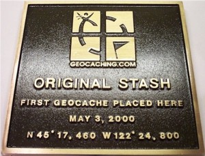 """Original stash. First geocache placed here, may 3 2000."""