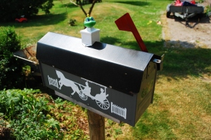 Den här lådan, där Signal the Frog tydligen bor, var en fräsch upplevelse. Dessutom står den mitt i en trädgård!