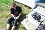 Speedo58 ska bjuda på tårta när han kommer upp i hundra finds. På öarna blev det några närmare målet.