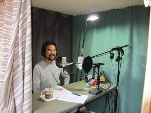 Sonny i studion som den ser ut i dag. Det är här det händer.